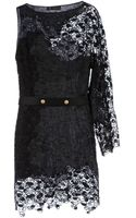 Versace One Sleeve Lace Cocktail Dress - Lyst