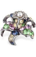 Az Collection Multicolor Flower Brooch - Lyst