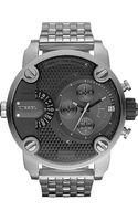 Diesel Baby Daddy Stainless Steel Watch - Lyst