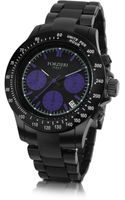 Forzieri Stingray Mens Black Chrono Bracelet Watch - Lyst