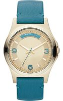 Marc By Marc Jacobs Baby Dave Goldtoned Leather Watch Gold Tone - Lyst