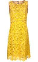 Michael Kors Lace Shift Dress - Lyst