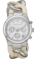 Michael Kors Silverplated Chronograph Watch Silver - Lyst