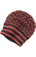 Missoni Black and Red Wool Blend Hat - Lyst