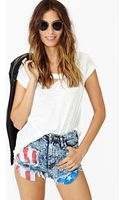 Nasty Gal Acid Flag Cutoff Shorts - Lyst