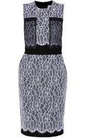 Preen By Thorton Bregazzi Lace Panel Dress - Lyst