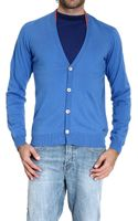 Just Cavalli Cardigan with Contrasts - Lyst