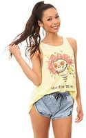 Chaser The Rose Skull Tank - Lyst