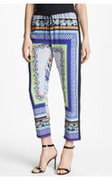 Clover Canyon Ghandi Scarf Print Crop Pants - Lyst