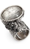 Saint Laurent Arty Silvertone Ring - Lyst