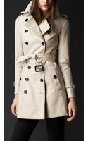 Burberry Prorsum Double Cotton Twill Trench Coat - Lyst