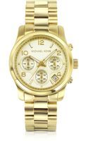 Michael Kors Womens Chronograph Runway Goldtone Stainless Steel Bracelet Watch - Lyst