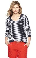 Gap Reversible Striped Hoodie - Lyst
