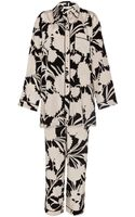 Temperley London Silk Satin Pyjama Set - Lyst