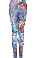 Topshop Graphic Grafitti Leggings - Lyst