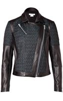 Helmut Lang Leather Paneled Biker Jacket  - Lyst
