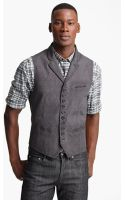 John Varvatos Notch Lapel Vest - Lyst