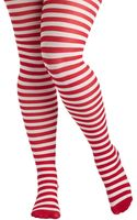 ModCloth Starlet and Stripes Tights in Red White Plus Size - Lyst