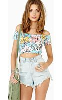 Nasty Gal Island Crush Crop Top - Lyst