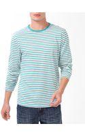 21men Striped T-Shirt - Lyst