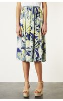 Topshop Crayon Forest Midi Skirt - Lyst