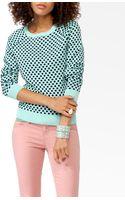 Forever 21 Polka Dot Raglan Sweater - Lyst