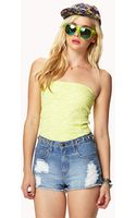 Forever 21 Floral Lace Tube Top - Lyst
