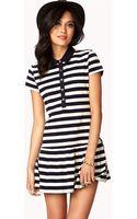 Forever 21 Nautical Striped Drop Waist Dress - Lyst