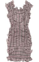 Marc Jacobs Plaid Cottonblend Ruffled Dress - Lyst