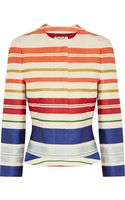 Stella McCartney Striped Twill Jacket - Lyst