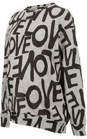 Topshop Maternity Love Sweatshirt - Lyst