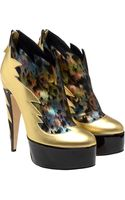 Laurence Dacade Arty Lamé and Patent Leather Platform Boots - Lyst