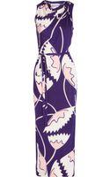 Diane von Furstenberg Blanchette Printed Silk Jersey Dress - Lyst