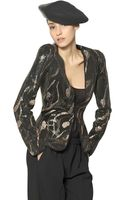 Giorgio Armani Crystal and Viscose Jersey Jacket - Lyst