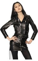 Saint Laurent Perfecto Plonge Nappa Leather Jacket - Lyst