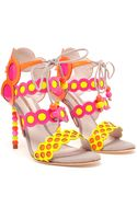 Sophia Webster Patent Leather Fluro Sandals - Lyst