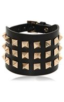 Valentino Large Rockstud Leather Bracelet - Lyst