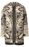 Etro Mohair-wool Coat - Lyst