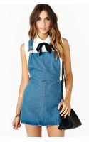 Nasty Gal Teen Dream Denim Jumper - Lyst
