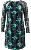 Christopher Kane Floral Velvet and Mesh Dress - Lyst