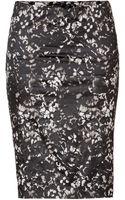 Donna Karan New York Watercolor Print Skirt  - Lyst