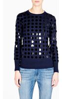 Markus Lupfer Oversized Circle Sequin Disc Jumper - Lyst