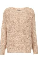 Topshop Knitted Chunky Rib Jumper - Lyst