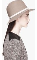 Rag & Bone Brown Felted Wide_brim Fedora - Lyst