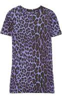 Christopher Kane Leopard Print Modal Jersey Tshirt - Lyst