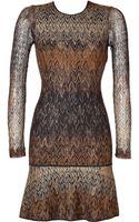 Missoni Knit Ruffle Hem Dress - Lyst