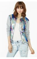 Nasty Gal Oil Slick Bomber Jacket - Lyst