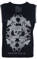 Philipp Plein Skull and Unicorn Print Tshirt - Lyst