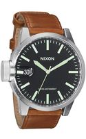 Nixon Chronicle Leather - Lyst