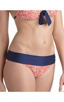 Splendid Coral Spotted Hipster Swim Bottoms - Lyst
